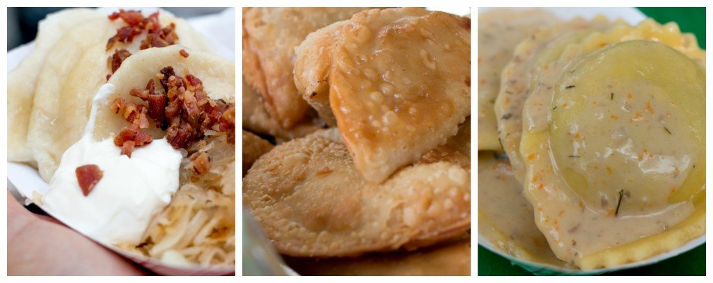 Global dumpling options at the NYC Dumpling Festival included pierogis, empanadas and ravioli.