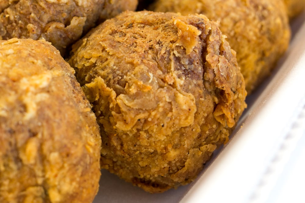 Boudin Balls at Rabideaux's Sausage Kitchen in Lake Charles Louisiana