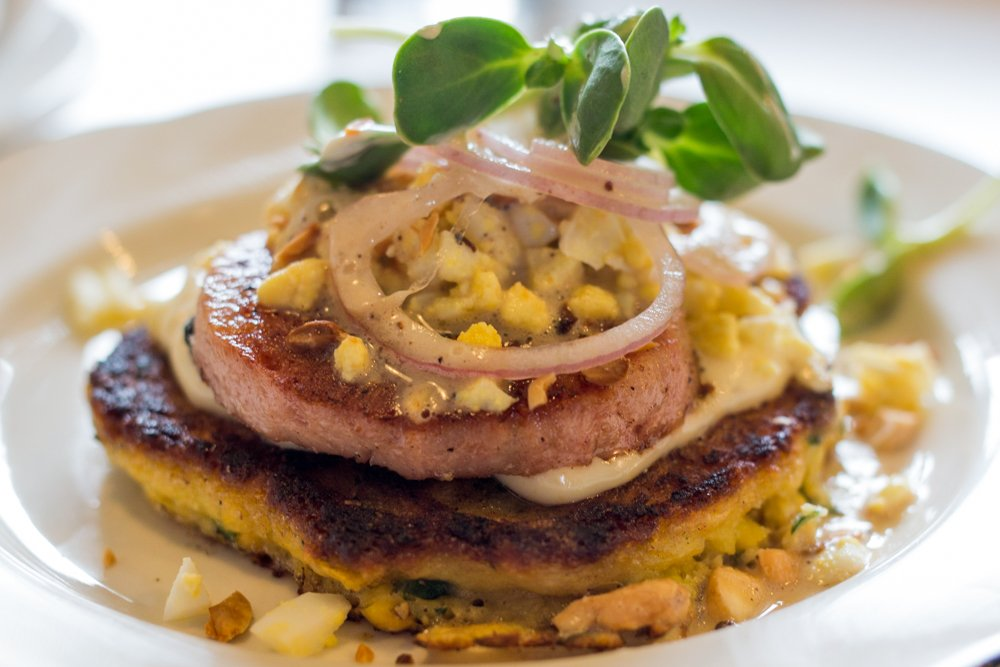 Sweet Corn Pancake and Fried Bologna at Milktooth Top 10 List 2015