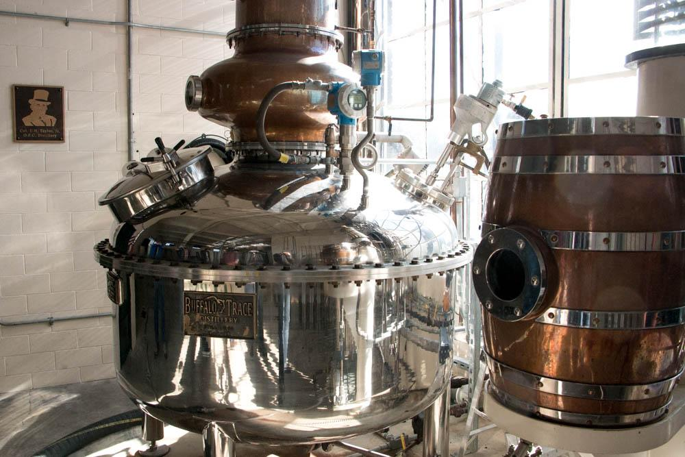 This equipment is part of the micro-distillery where the company experiments and makes smaller batches.
