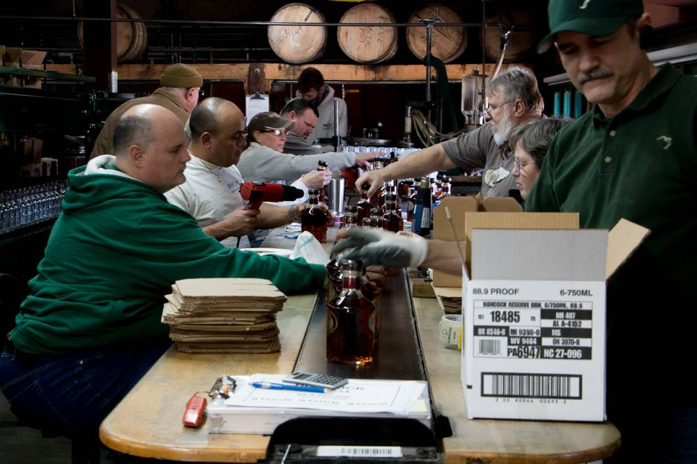 Blanton's Bourbon Assembly Line