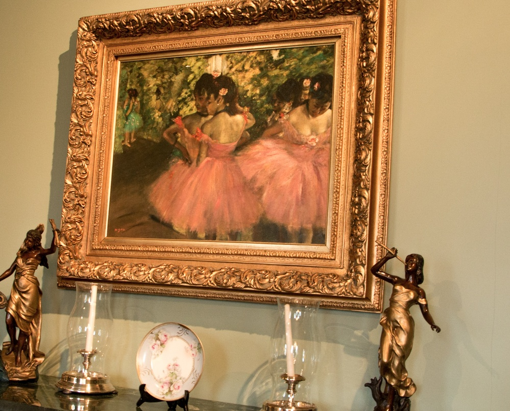 And here's another replica - this one of Edgar Degas' ubiquitous ballerina students. Romantic Weekend at the Buhl Mansion Sharon PA Pennsylvania, a Select Registry Hotel