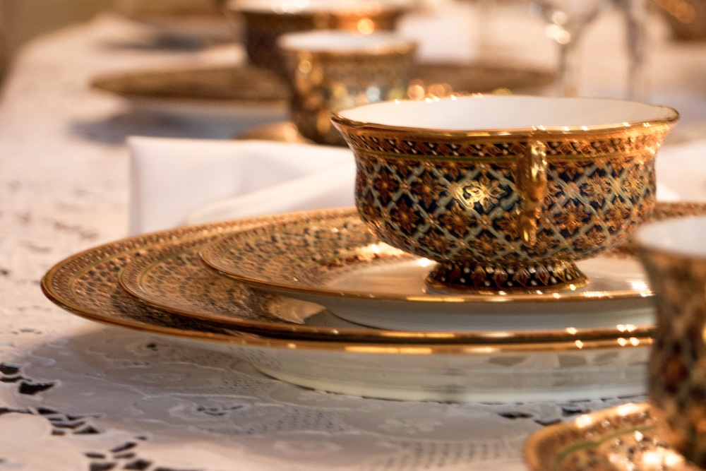 This one-of-a-kind china set was specially made for Donna Winner. Romantic Weekend at the Buhl Mansion Sharon PA Pennsylvania, a Select Registry Hotel
