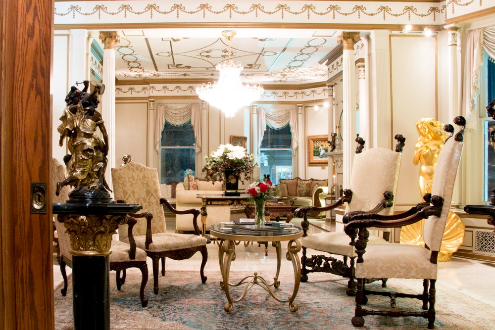The stately sitting room can be used any time, not just for afternoon tea. Romantic Weekend at the Buhl Mansion Sharon PA Pennsylvania, a Select Registry Hotel