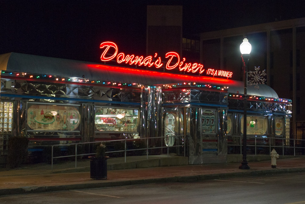Donna's Diner in downtown Sharon PA is a fun spot for a casual meal near the Buhl Mansion. Romantic Weekend at the Buhl Mansion Sharon PA Pennsylvania, a Select Registry Hotel