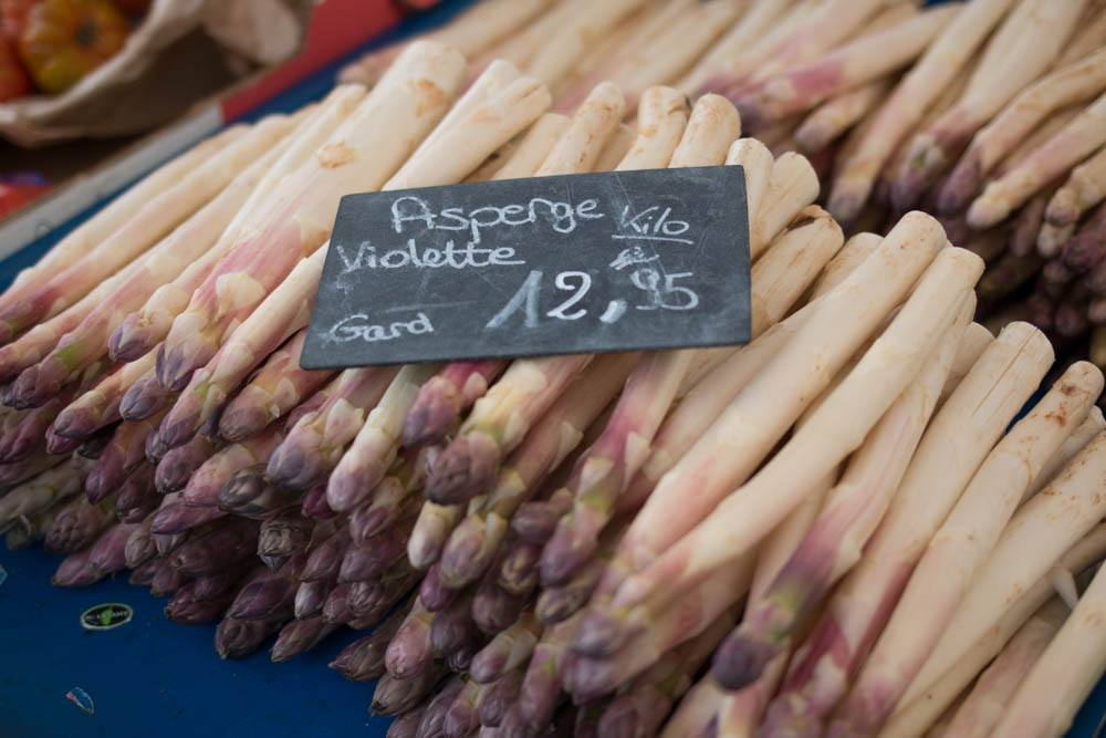 Violet Asparagus in Lyon France