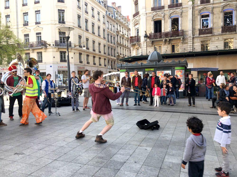 Lyon Street Scene in Lyon France
