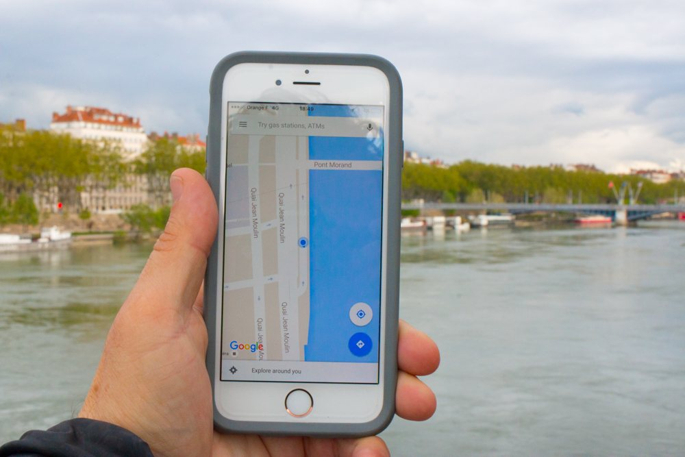 Google Maps in Lyon France