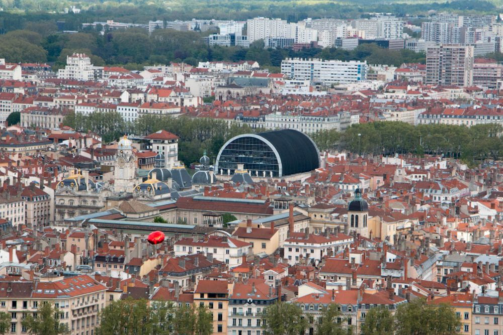 View of Lyon France including the Opera House