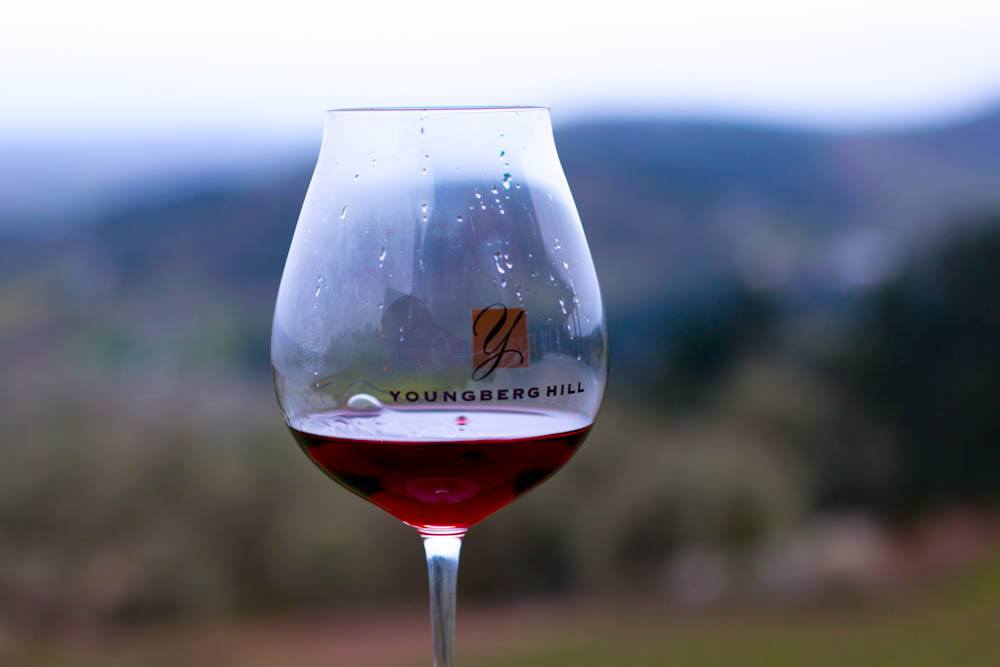 Wine at Youngberg Hill in Willamette Valley Oregon
