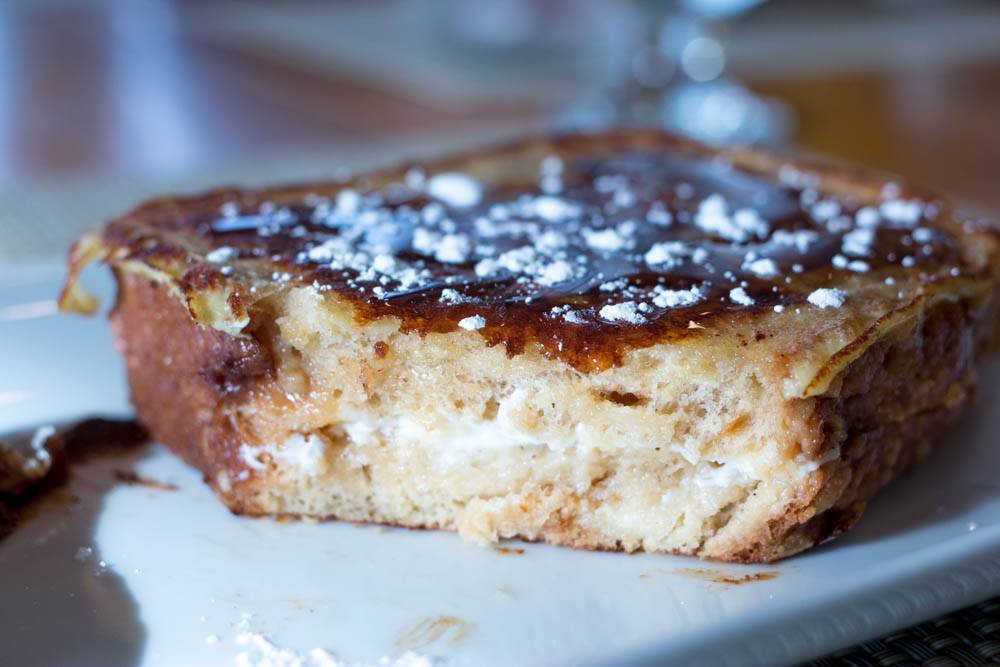 Salted Caramel French Toast at Youngberg Hill in Willamette Valley Oregon