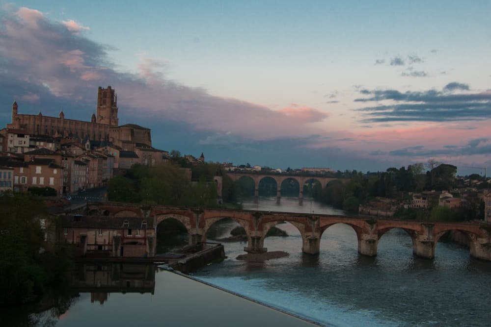 Colorful Sky in Albi France