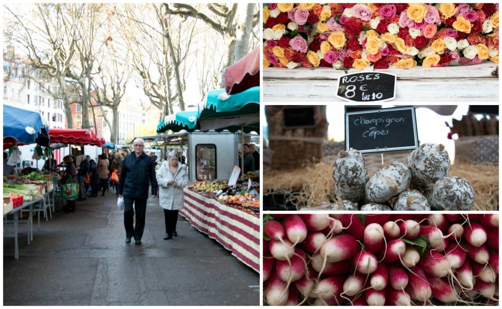 The outdoor markets in Lyon are perfect for every day purchases like fruit, vegetables and eggs. lyon food guide