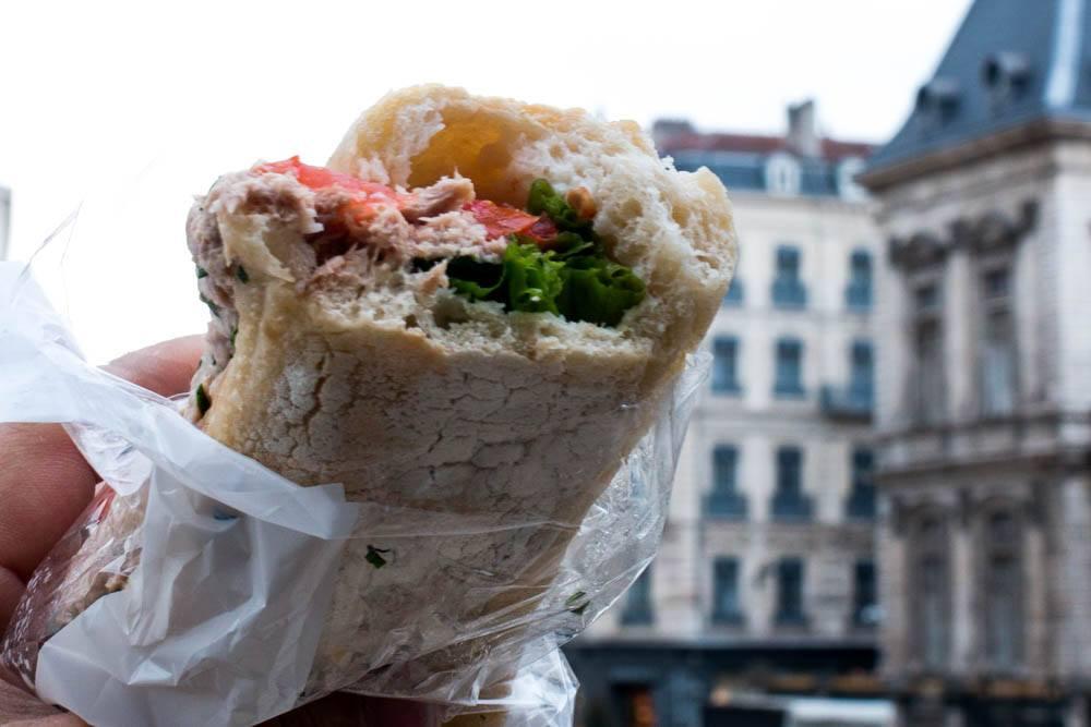 Tuna Sandwich at Maison Kayser in Lyon France
