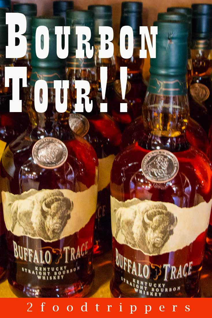 Pinterest image: image of Buffalo Trace bourbon with caption reading 'Bourbon Tour!!'