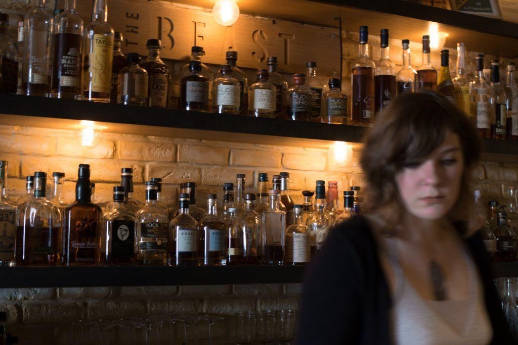 The Beast has a small bar with a fine selection of American spirits expertly curated by Kentucky native Sarah Andrews. Whiskeys include American staples such as Eagle Rare, Buffalo Trace and Blanton's. American Food in Paris 2foodtrippers