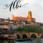 Pinterest image: image of Albi with caption reading 'All About Albi'