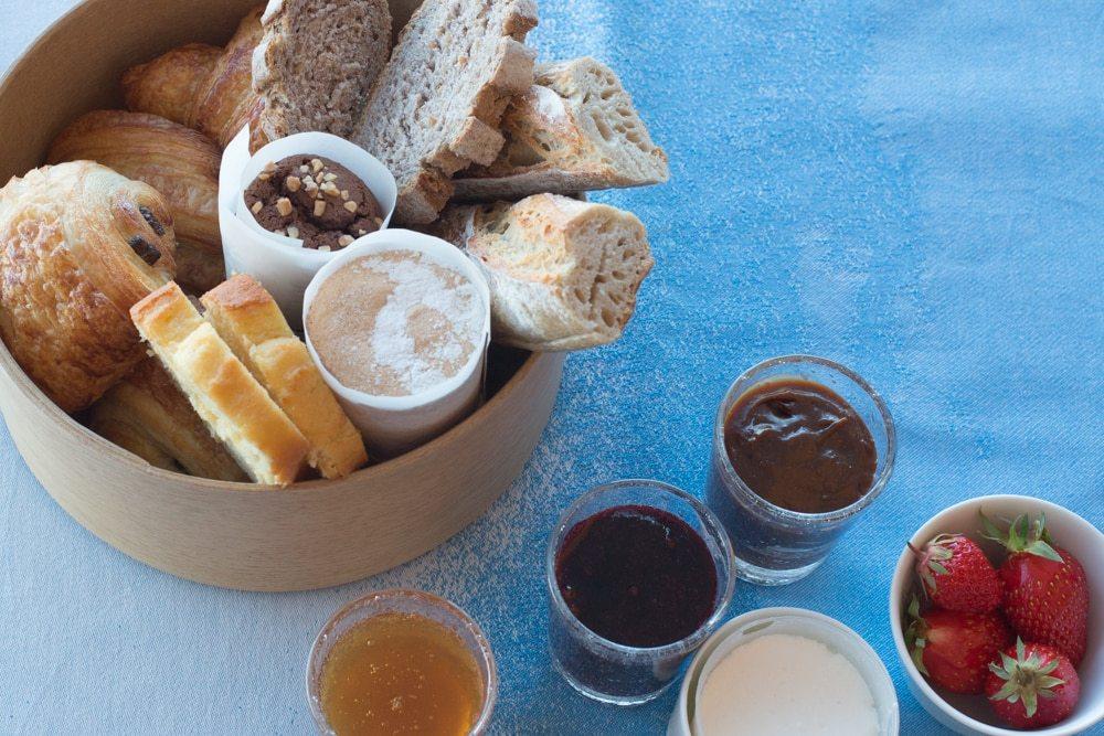 Bread Basket at Maison Bras Hotel Breakfast
