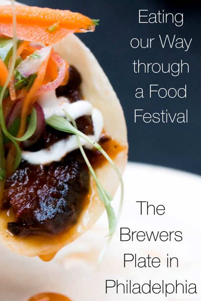 The Brewers Plate is a celebration of local food and beer in Philadelphia.