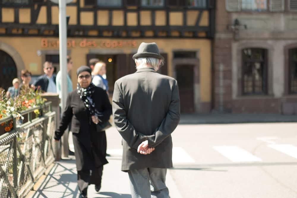 Pedestrians in Strasbourg France