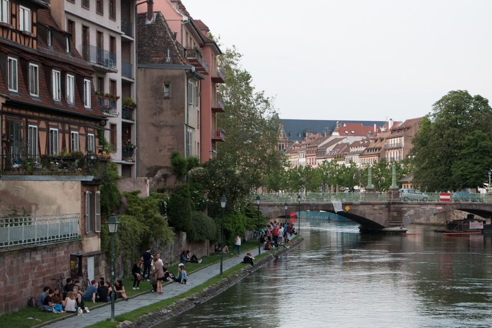Canal in Strasbourg France