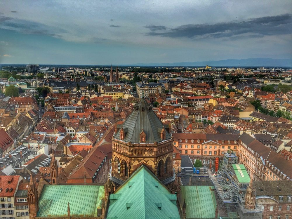 View from Notre Dame Cathedral in Strasbourg France