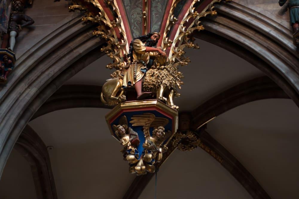 Inside Notre Dame Cathedral in Strasbourg France