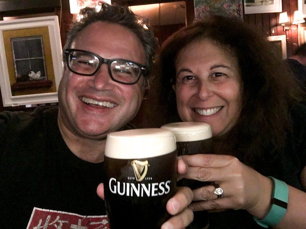 Guinness Pints at Grogan's in Dublin Ireland