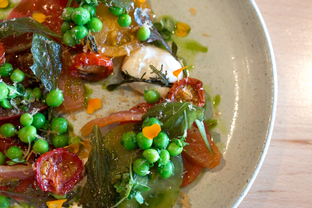 Bastible shines with dishes like this starter filled with heritage tomatoes, cured sea-trout and smoke roe. Where to Eat in Dublin Now