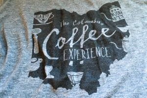 Columbus Coffee Trail T-Shirt Columbus Brew
