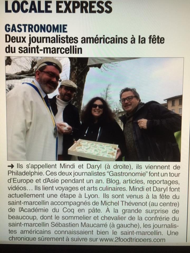 Article Clipping Le Dauphinē Saint-Marcellin Cheese. fête du saint-marellin france