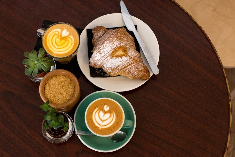 We enjoyed our breakfasts at Proper Order Coffee Co. The cappuccino at the top needs no color correction. It's made with saffron, providing an orange hue and excellent flavor. Plus, the almond croissant is big enough to share. Where to Eat in Dublin Now