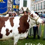 Pinterest image: image of cow with caption 'Fête du Saint-Marcellin'