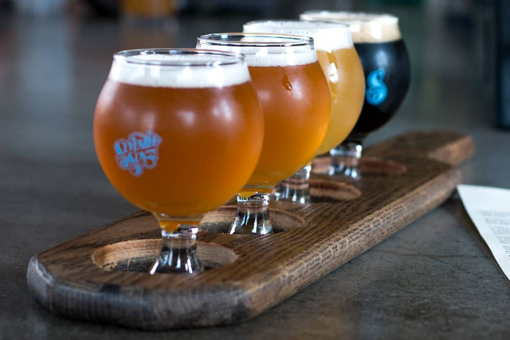 The generous pours in a tasting flight at Seventh Son Brewing is a great introduction to the brewery's beers. Columbus Brew