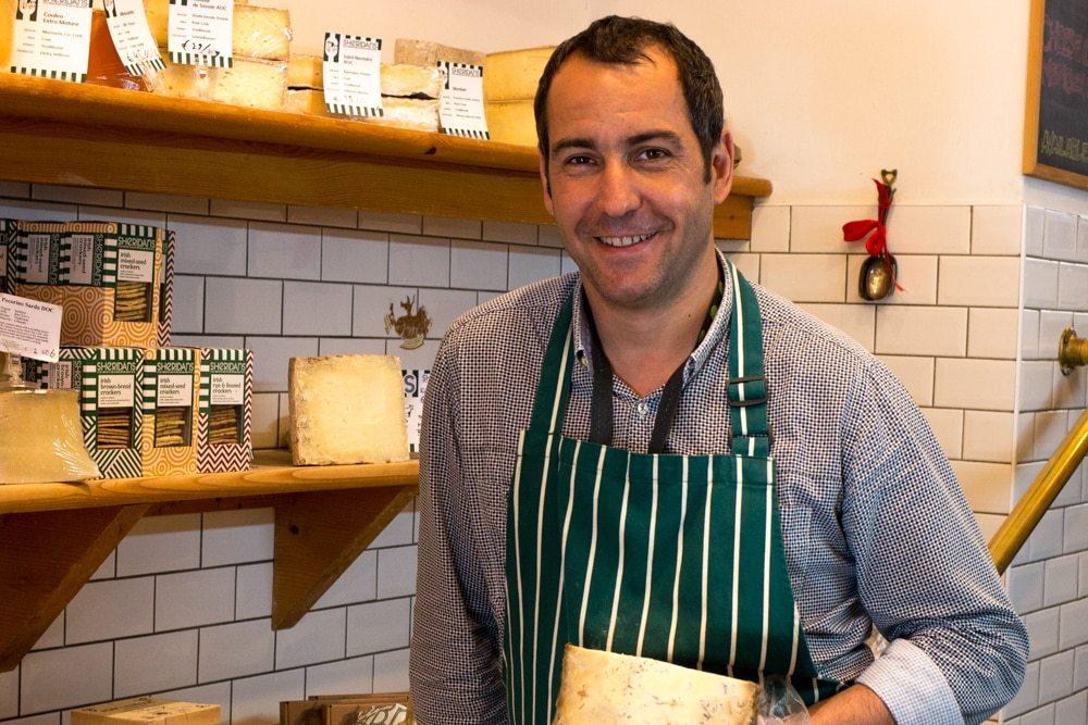 John Leverrier at Sheridans Cheesemongers in Dublin Ireland