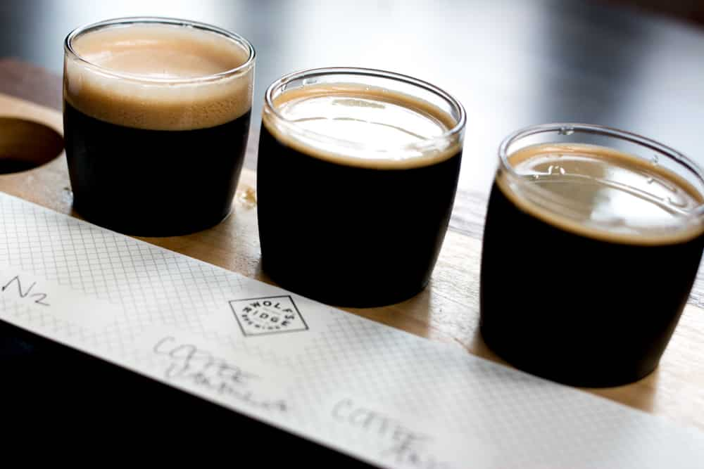 The beer selection at Wolf's Ridge Brewery includes some infused with coffee - a perfect introduction to the Columbus brew scene.