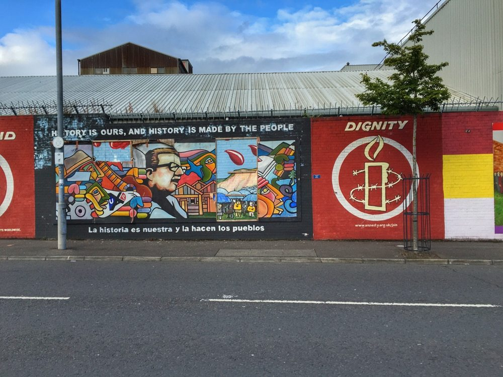Belfast Political Street Art. Seeing the Belfast street art is a highlight of any walk or bus tour in Belfast. 5 fun things to do in belfast
