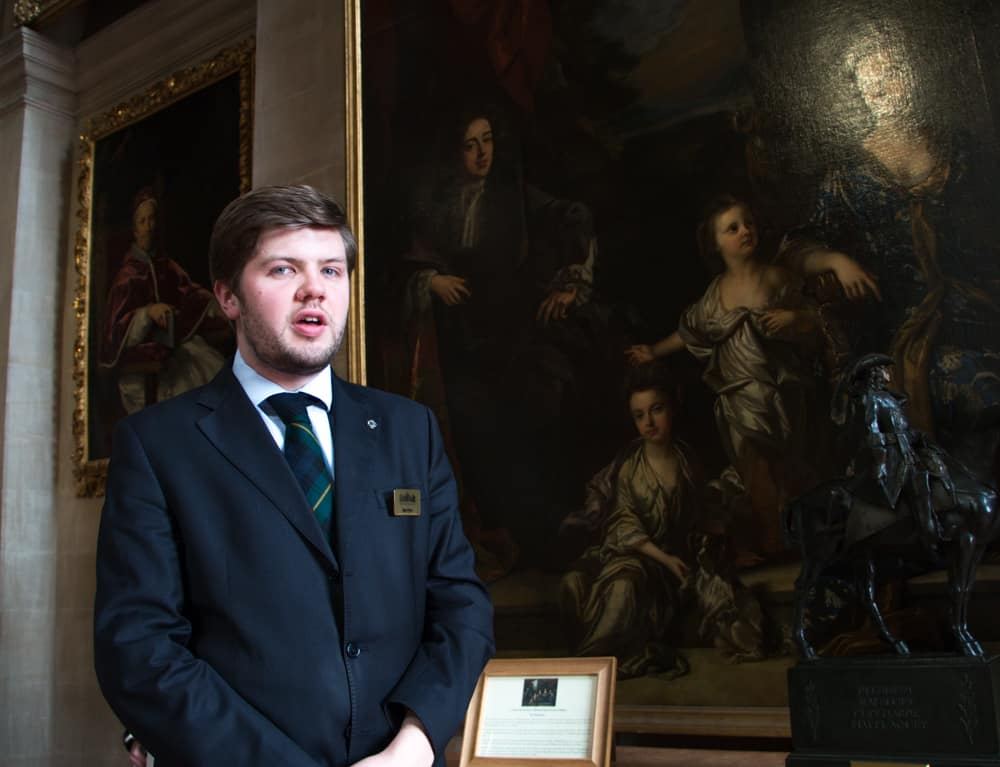 Blenheim Palace tour guide, Ben Price, brought the palace's history to life with his thoughtful descriptions and stories.
