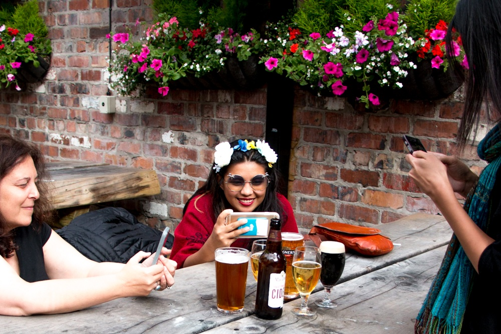 Beer Garden at The Dirty Onion in Belfast Northern Ireland
