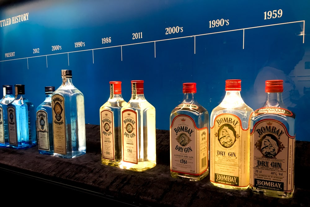 Bombay Sapphire Bottles on the Bombay Sapphire Distillery Tour