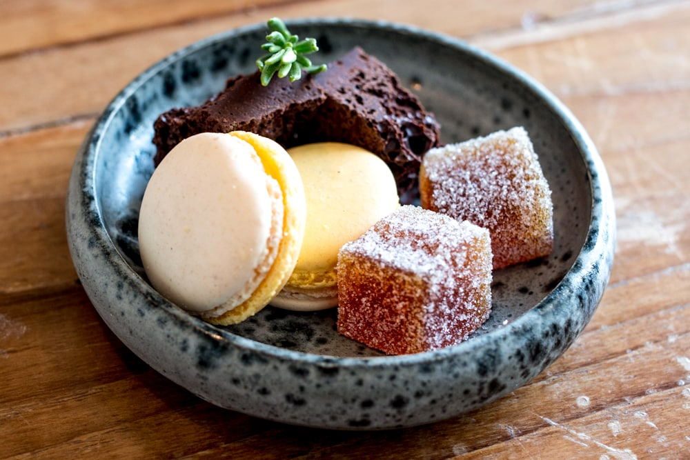 We weren't hungry after three courses at Ox, but we somehow found room for the petit four plate featuring Elderflower Macarons, Rosemary Chocolate and Passionfruit Gelees. Belfast Food Guide. Where to Eat in Belfast