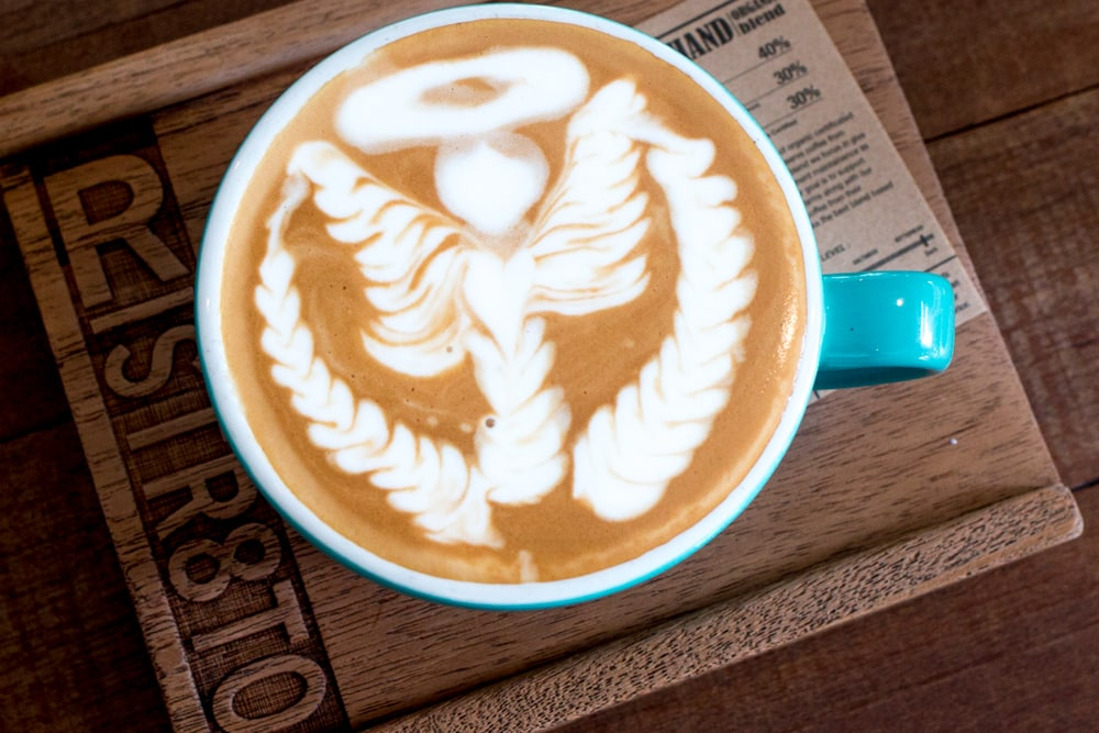 At Ristr8to Lab, coffee artists execute drinks to order like this this Satan Latte. What to Eat in Chiang Mai - A Chiang Mai Food Guide 2foodtrippers