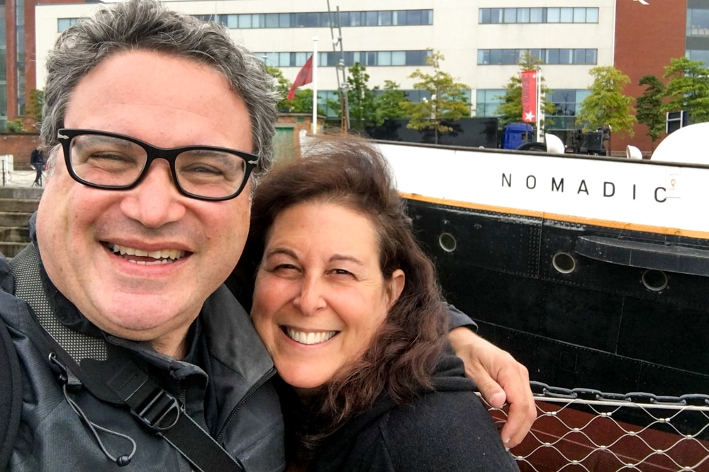 2foodtrippers at the Titanic Museum in Belfast Northern Ireland