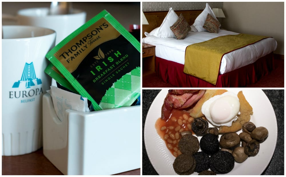 Scenes from the Europa Hotel. Doesn't it look comfortable? 5 fun things to do in belfast