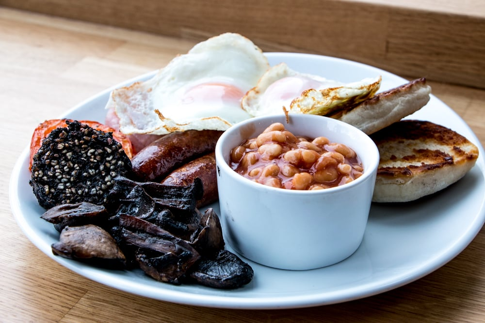 Large Ulster Fry Belfast Baking Company in Belfast Northern Ireland