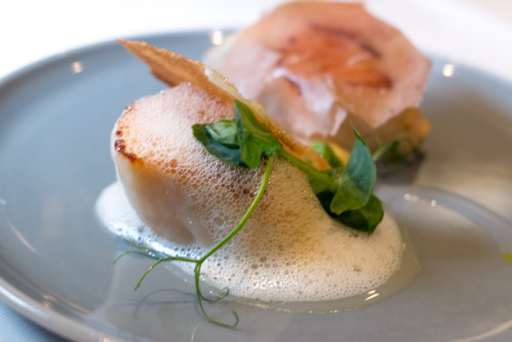 King Scallops at James Street South Restaurant in Belfast Northern Ireland
