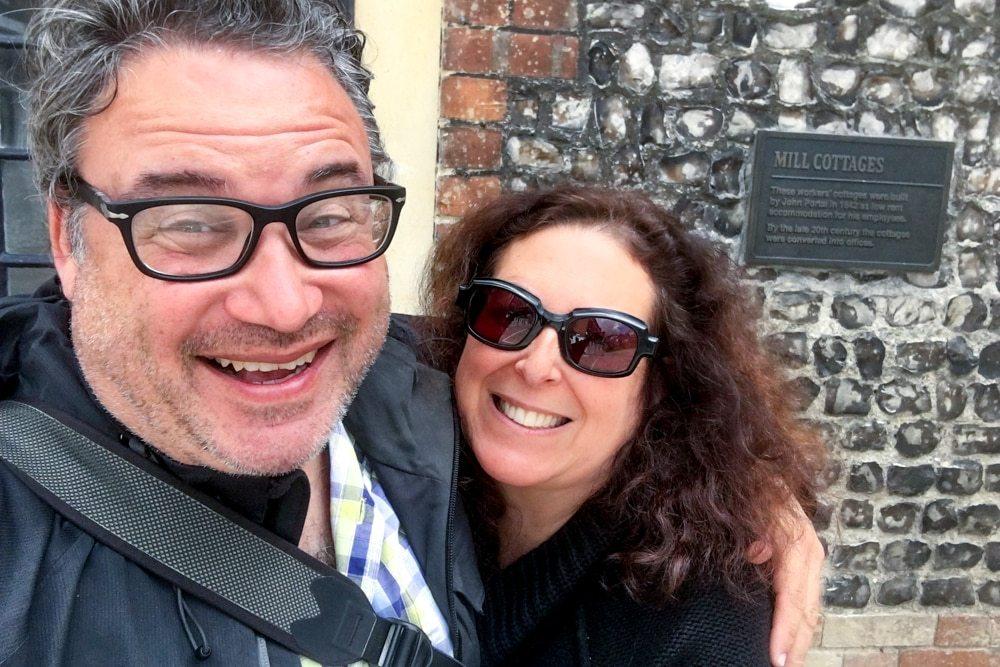 Mindi and Daryl at Bombay Sapphire Distillery Tour