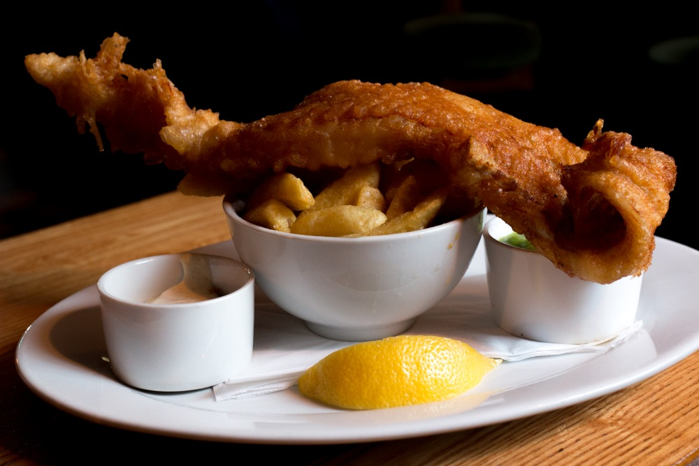 Fish and Chips at The Roadside Tavern in Western Ireland