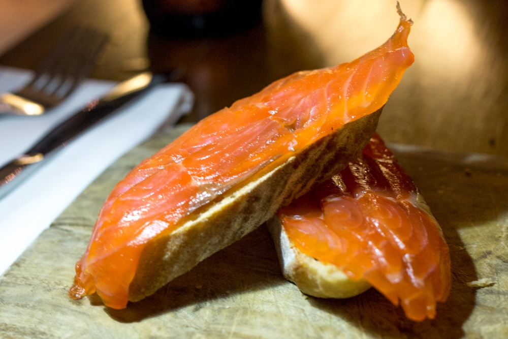 This snack with Smoked Salmon, Wheaten and Horseradish Cream is featured on the Love Fish Late Menu for £7.50. Belfast Food Guide. Where to Eat in Belfast