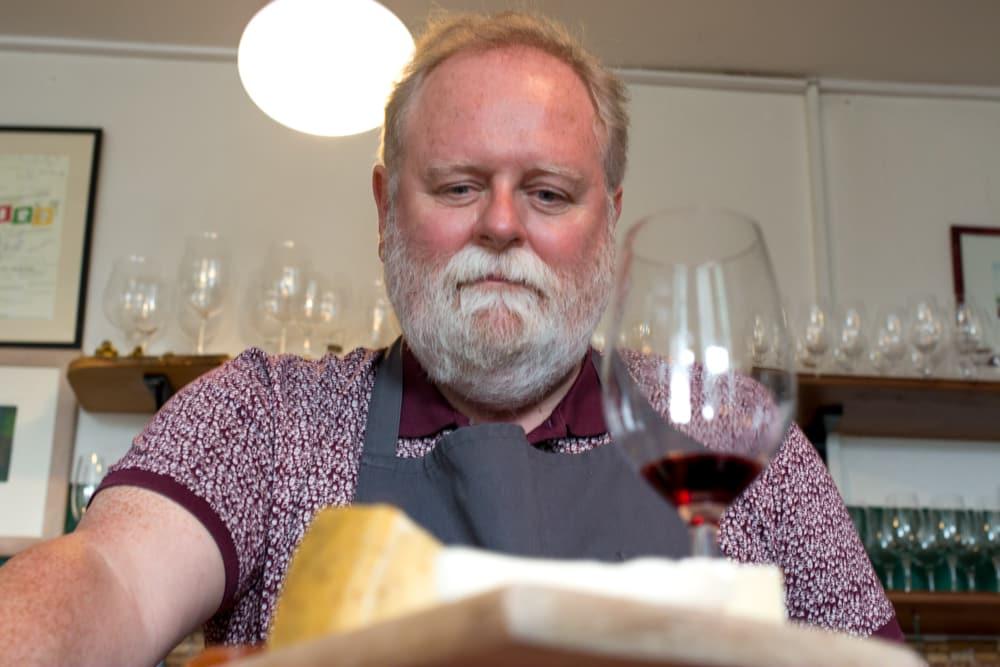 Gerry Flynn at Sheridans Cheesemongers in Western Ireland